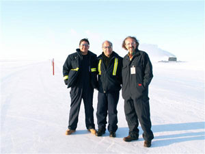 Joel Vazquez and co workers in the Arctic